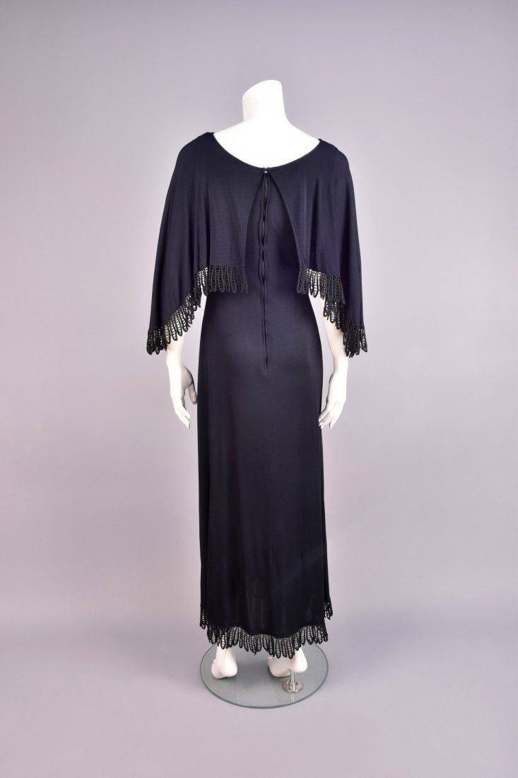 CHRISTIAN DIOR LACE TRIMMED CAPLET GOWN - 2