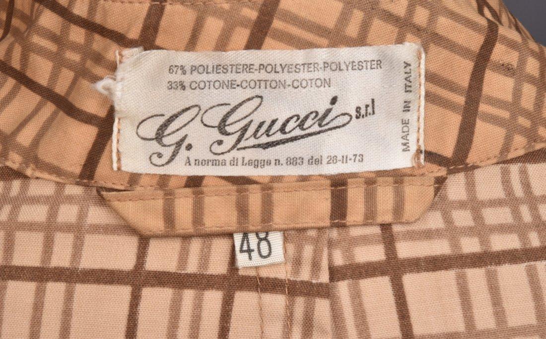 GUCCI PLAID RAINCOAT, 1970s. - 2