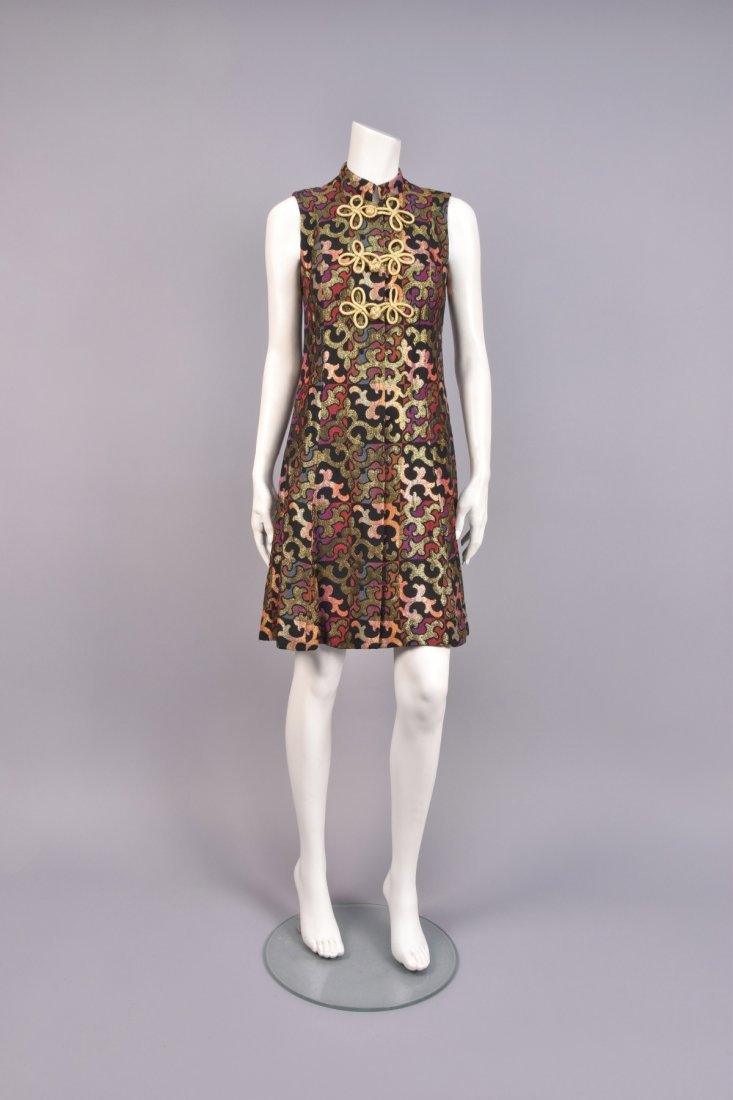 PATTERNED WEAVE COAT and DRESS, 1960s. - 2