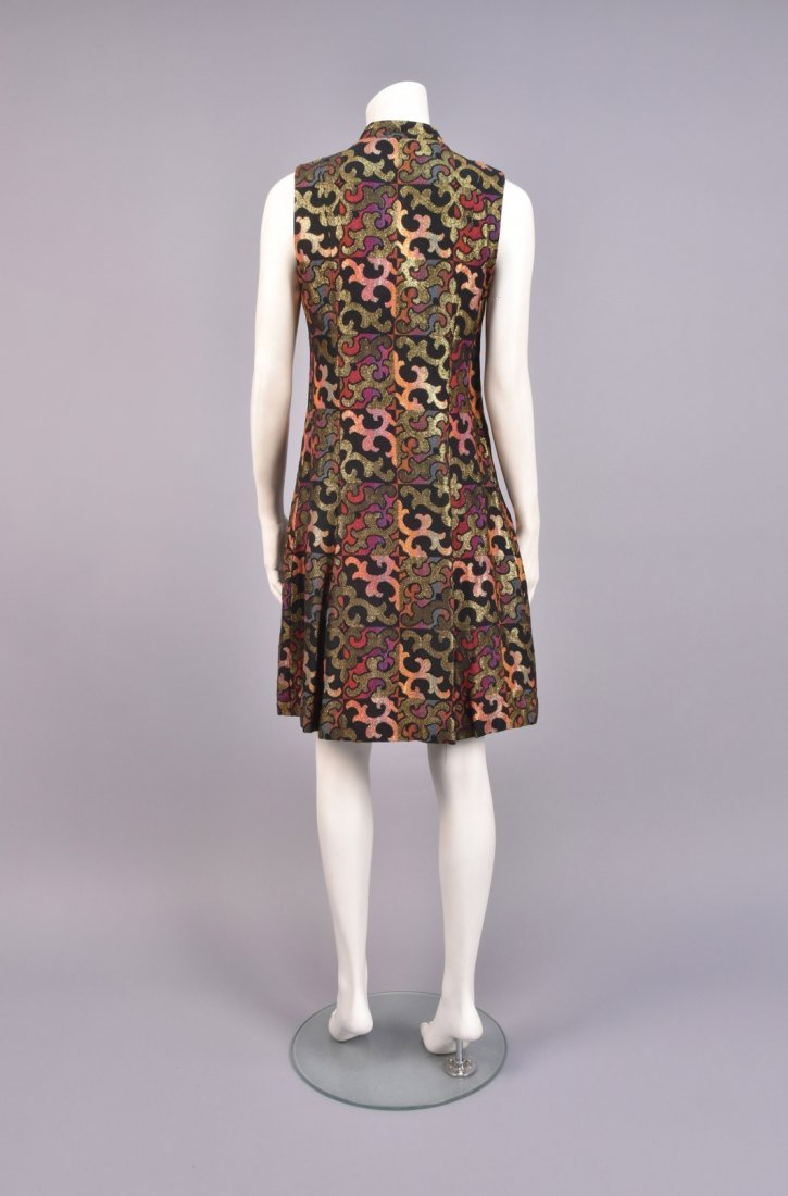 PATTERNED WEAVE COAT and DRESS, 1960s. - 3