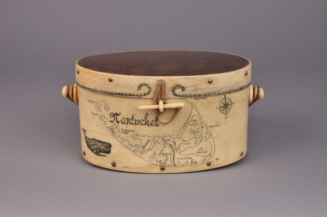 NANTUCKET SCRIMSHAW DITTY BOX, c. 1970 - 2