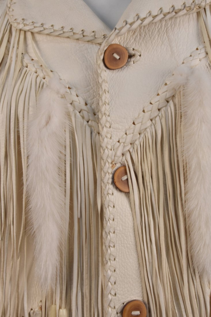 MAHOPA FRINGED LEATHER JACKET and PANTS, 1970s. - 4