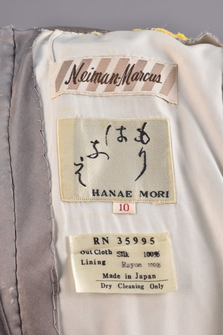 HANAI MORI PRINTED SILK PANTS ENSEMBLE, 1980s. - 6