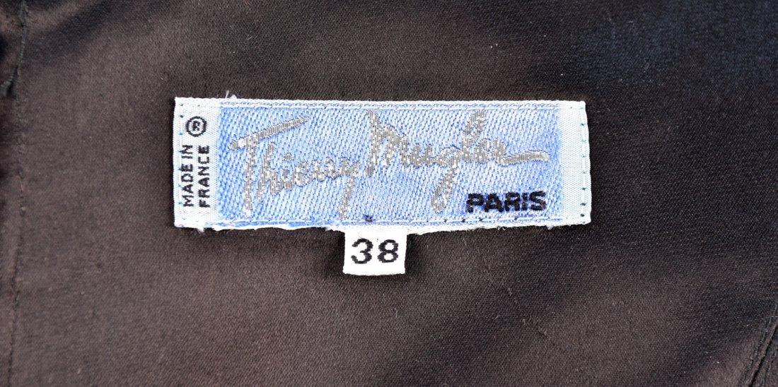 THIERRY MUGLER VELVET COCKTAIL DRESS, 1980s. - 4
