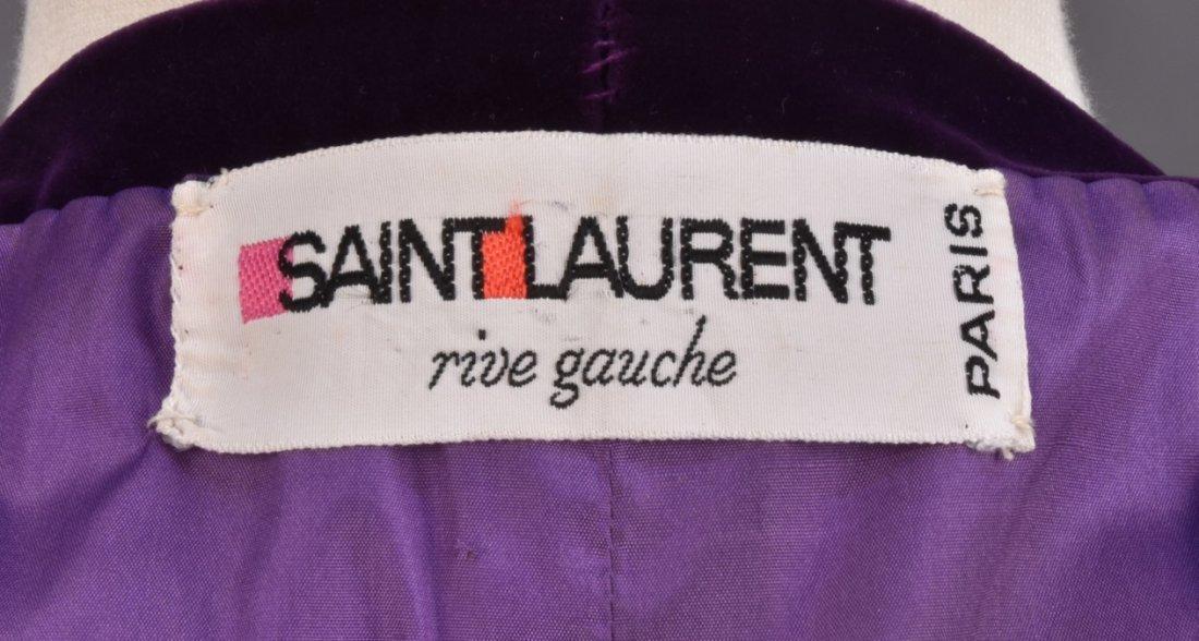 SAINT LAURENT RIVE GAUCHE PURPLE VELVET DRESS - 3