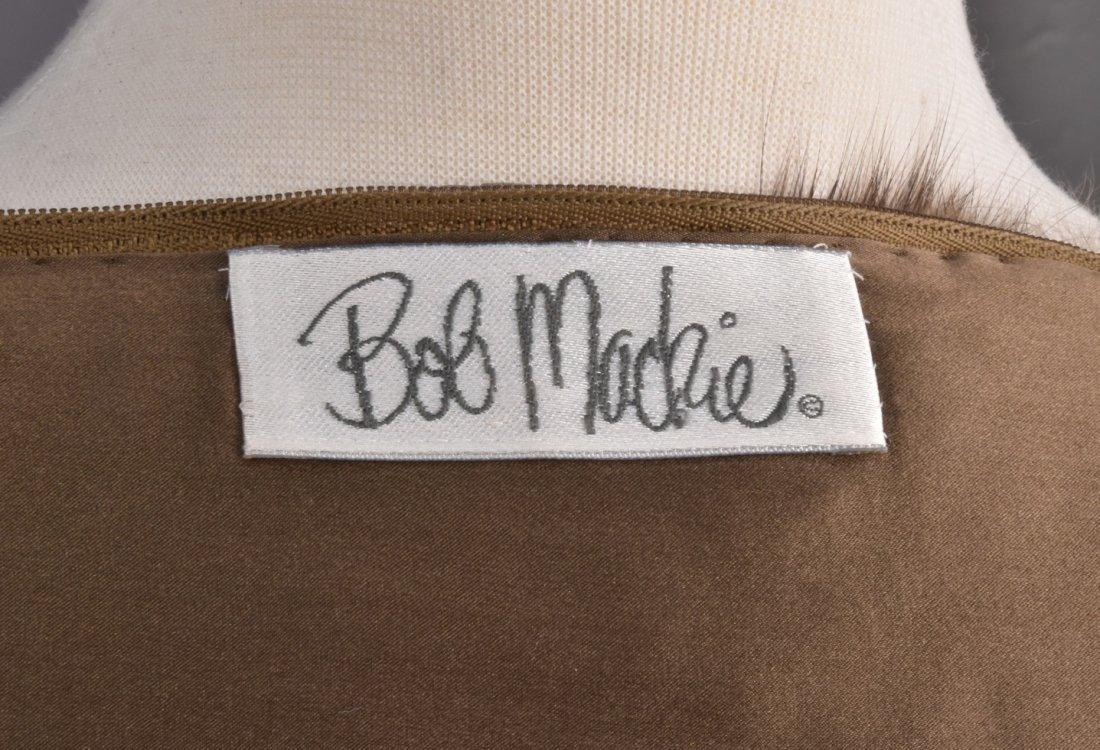 BOB MACKIE FUR TRIMMED CHIFFON GOWN. - 4