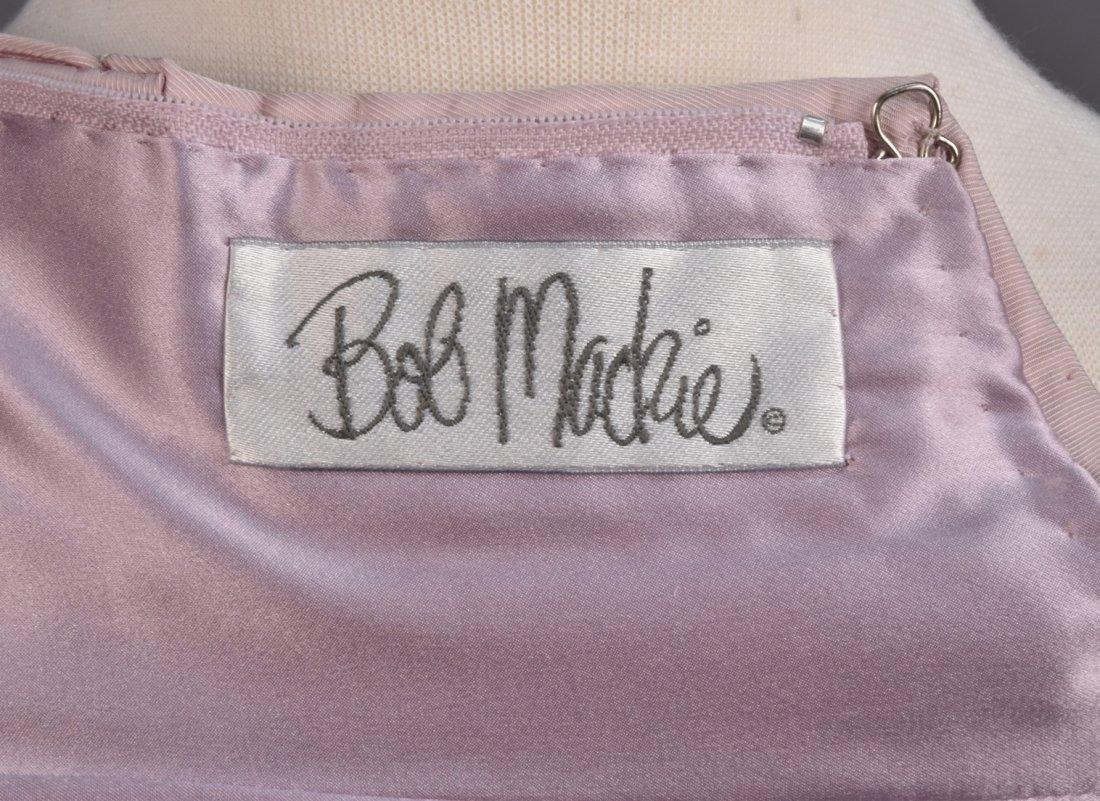 BOB MACKIE STRAPLESS SATIN GOWN. - 4