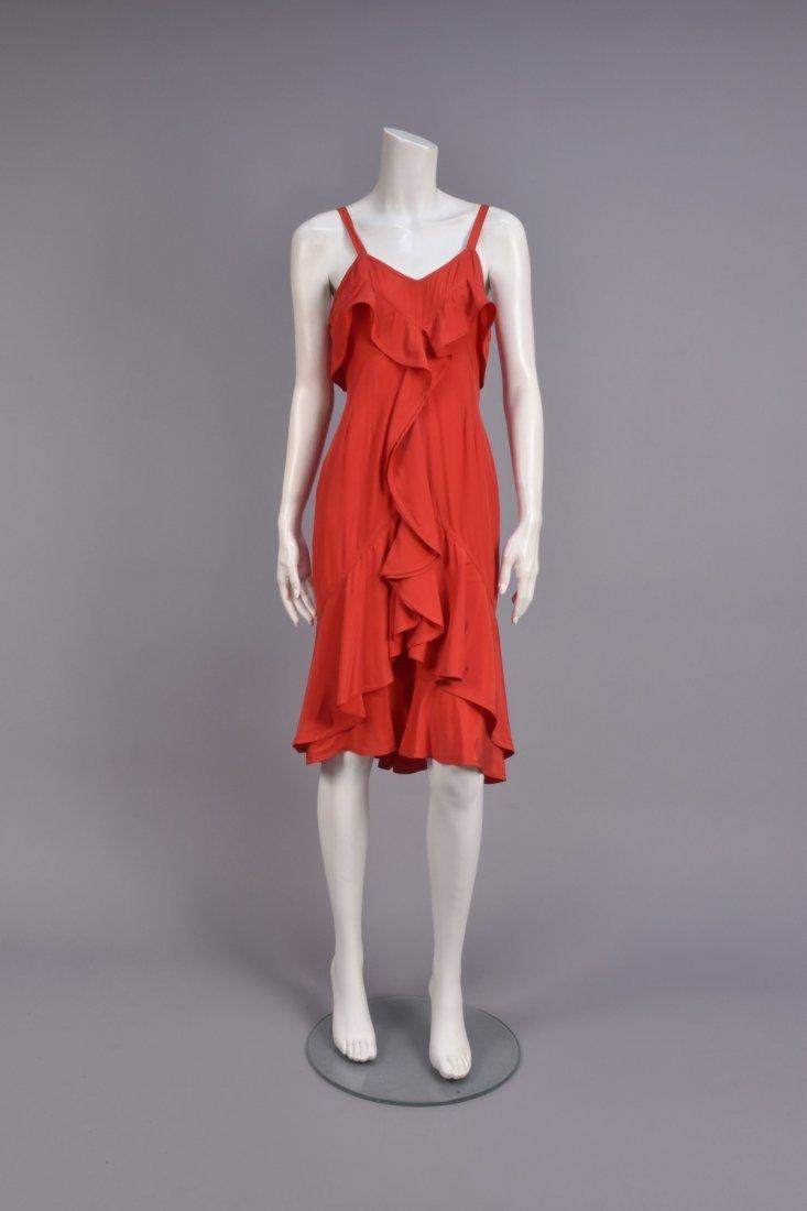 SAINT LAURENT by TOM FORD SILK RUFFLE DRESS, 2003.
