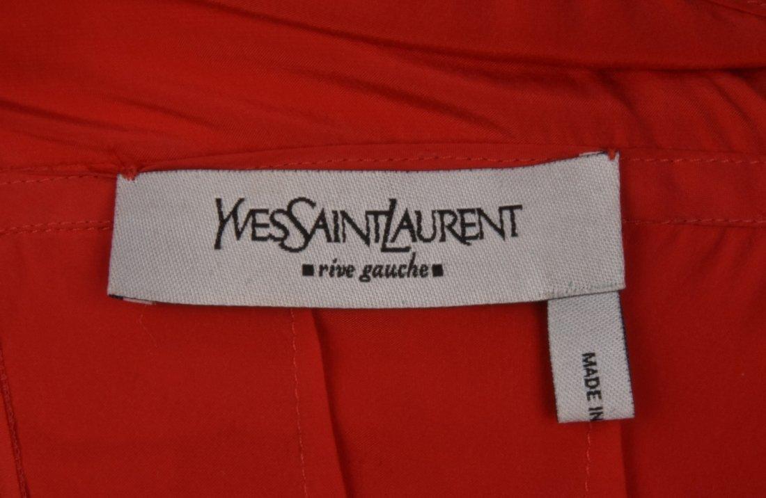 SAINT LAURENT by TOM FORD SILK RUFFLE DRESS, 2003. - 4