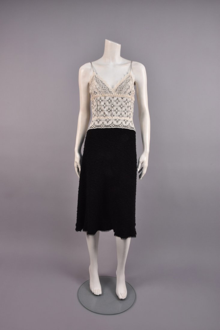 ISABEL TOLEDO DOCUMENTED LACE and WOOL DRESS, 2004.