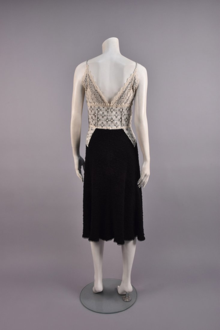 ISABEL TOLEDO DOCUMENTED LACE and WOOL DRESS, 2004. - 2