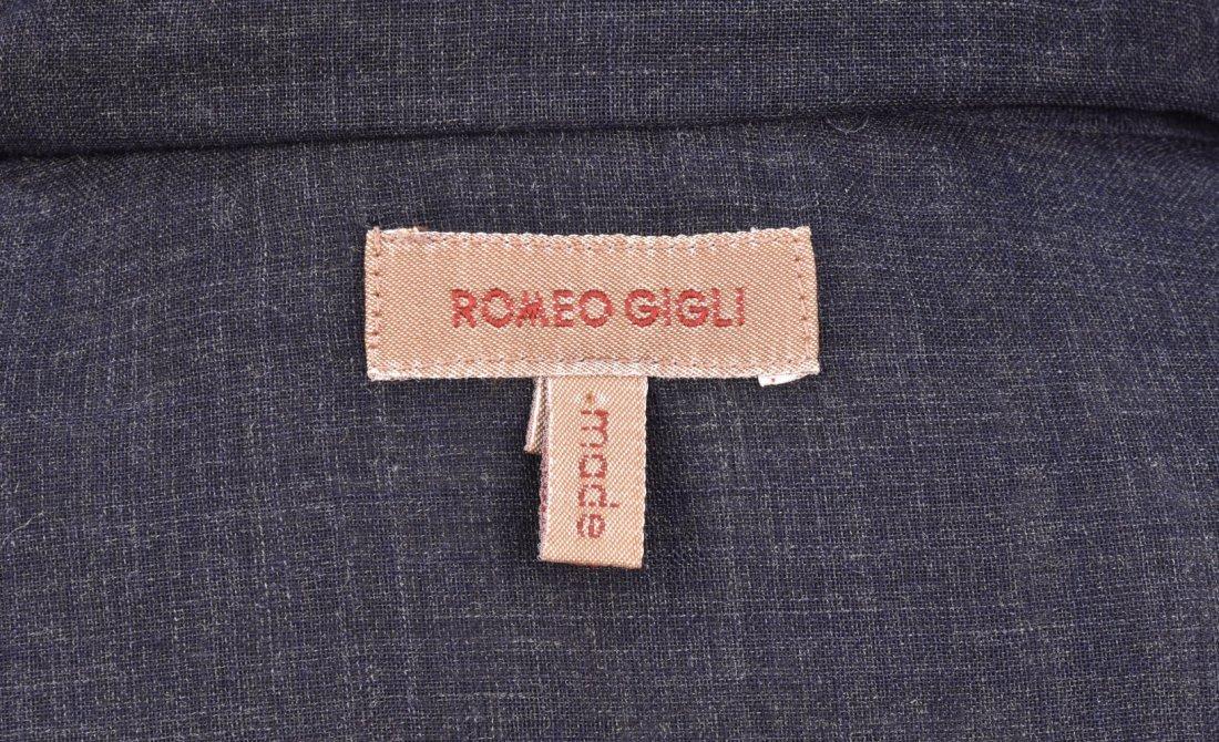 ROMEO GIGLI CRIMPED WOOL MAXI DRESS. - 4