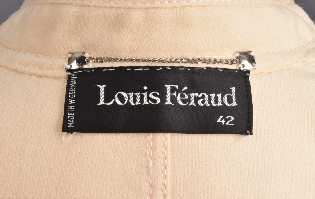 LOUIS FERAUD  SKIRT SUIT with CUTWORK SLEEVE. - 4