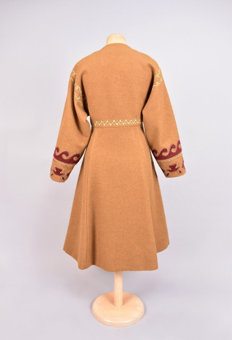 CHRISTIAN LaCROIX COSSACK STYLE WOOL COAT. - 2