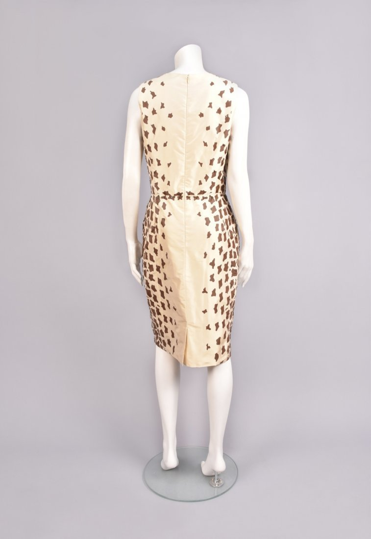 OSCAR de la RENTA BEADED GIRAFFE PRINT DRESS - 2