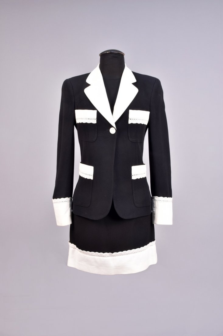 MOSCHINO SKIRT SUIT with PIQUE TRIM