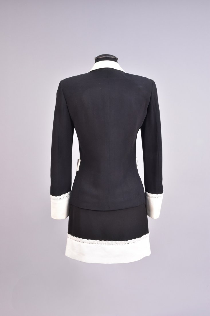 MOSCHINO SKIRT SUIT with PIQUE TRIM - 2