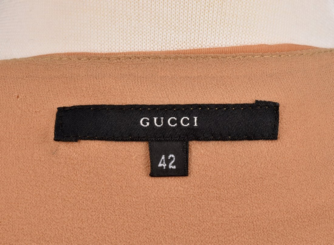 TOM FORD for GUCCI HIGH-WAIST VOILE DRESS. - 3