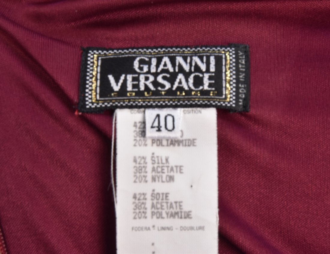 VERSACE  PRINTED JERSEY DAY DRESS. - 4