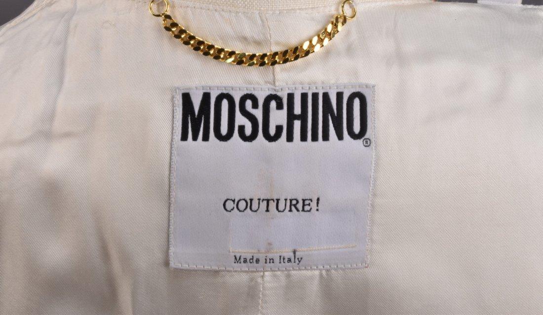 MOSCHINO BRUSHSTROKE LINEN JACKET, 1980s - 5