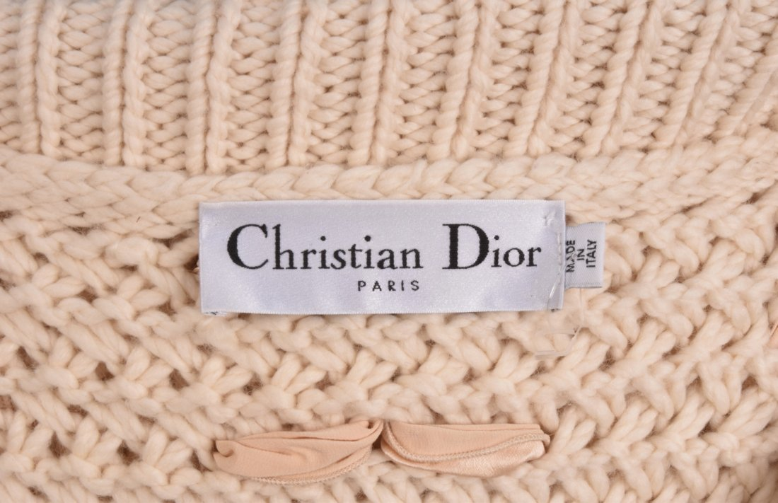 GALLIANO for DIOR BULKY KNIT SWEATER with RIBBONS. - 3