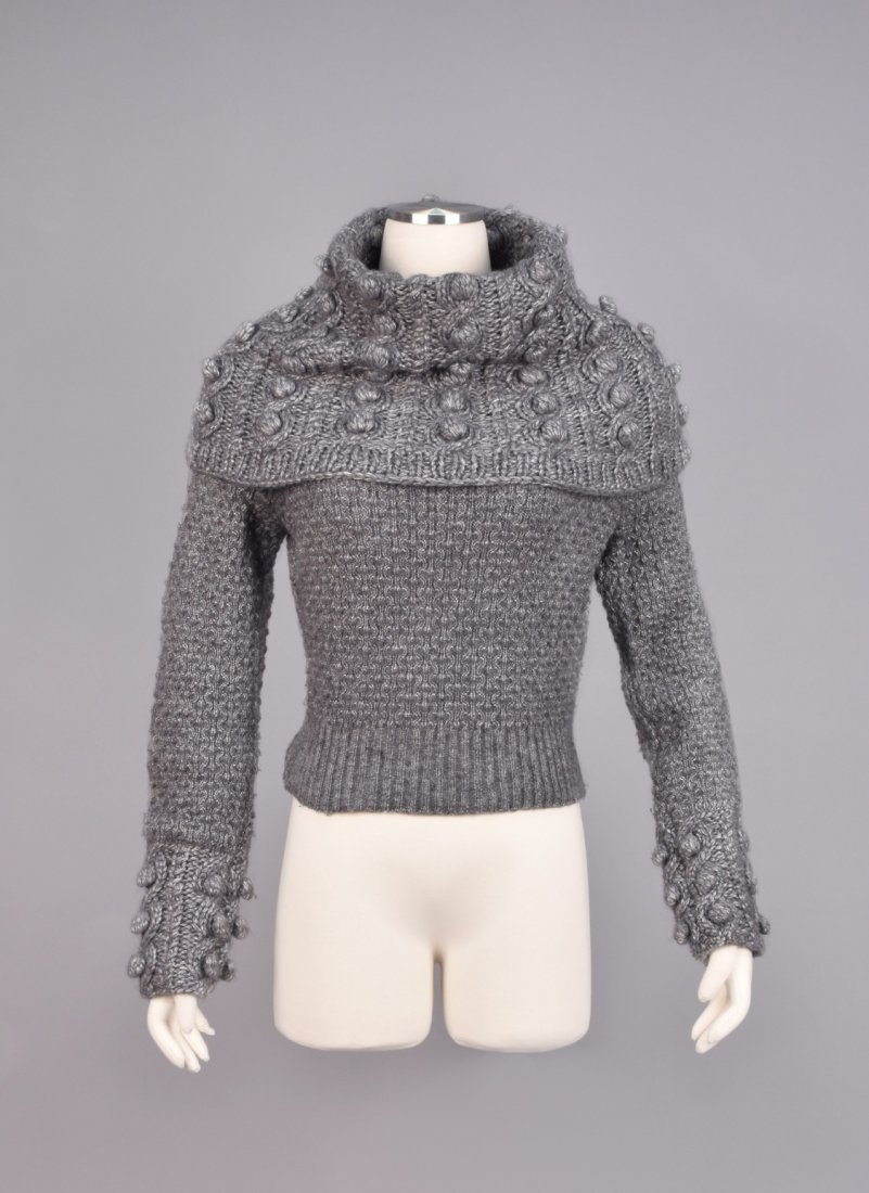 GALLIANO for DIOR HEAVY CABLE KNIT SWEATER, 2000.