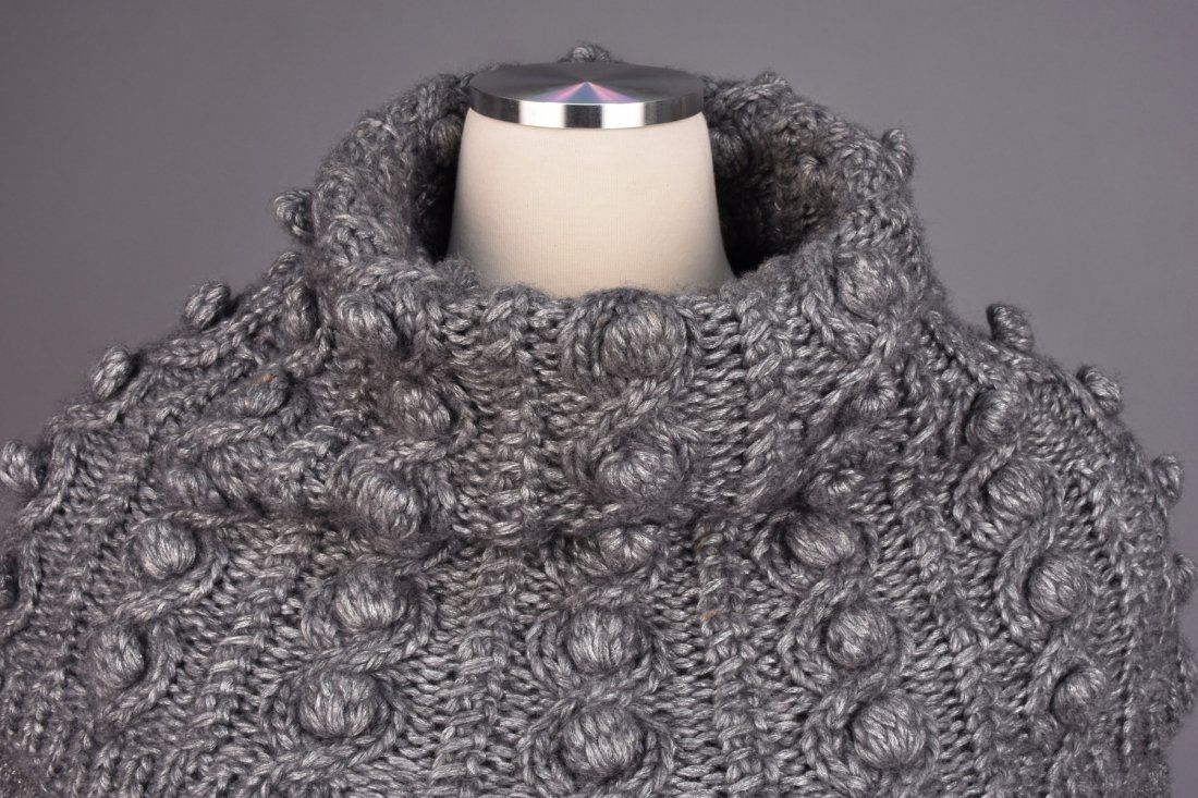 GALLIANO for DIOR HEAVY CABLE KNIT SWEATER, 2000. - 2