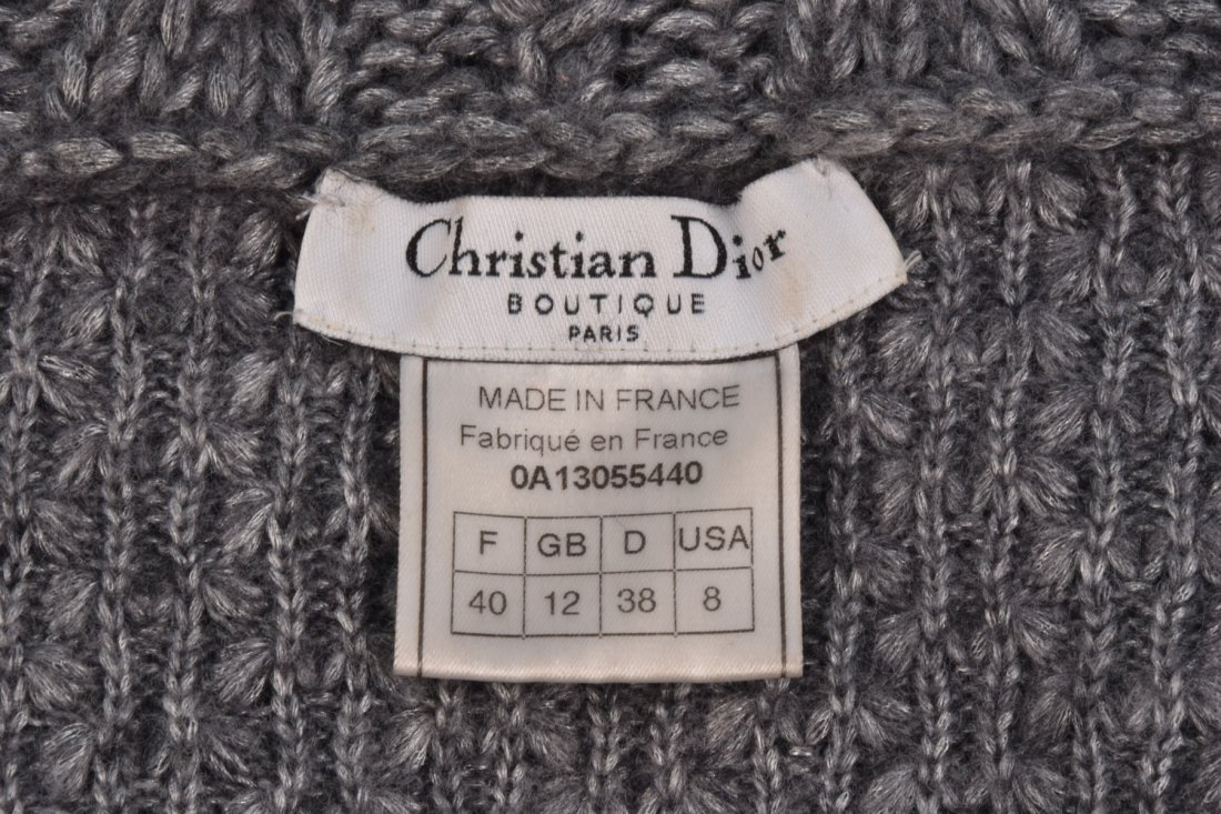 GALLIANO for DIOR HEAVY CABLE KNIT SWEATER, 2000. - 3
