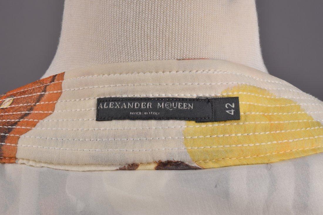 ALEXANDER McQUEEN PRINTED CHIFFON BUBBLE SKIRT, 2006. - 4