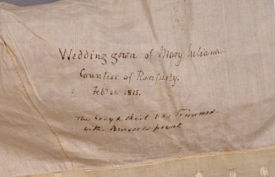 COUNTESS MARY of RANFURLY WEDDING GOWN, 1815 - 4