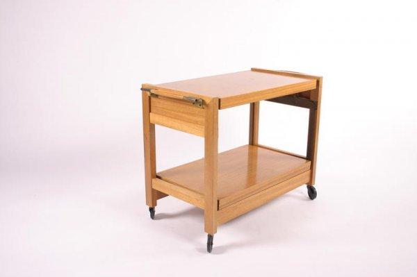 16: Brown Saltman Convertible top bar cart, USA 1950's
