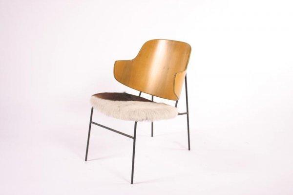 17: Kofod Larsen Cow hide chair, Denmark 1950's