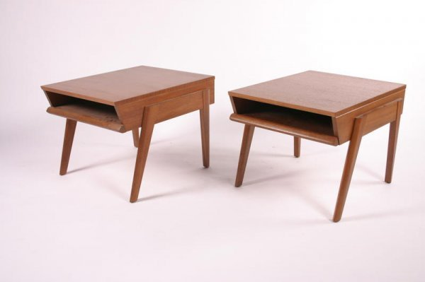 18: John Keal for Brown Saltman End tables, pair, 1950