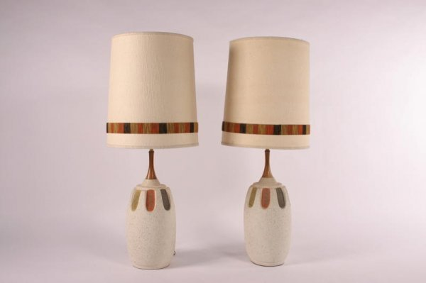 21: Mid Century Modern Table lamps, USA 1950