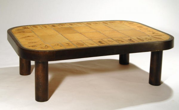 22: Roger Capron Coffee table, Vallauris, France 1950