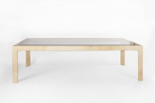 3: Karl Springer, attributed, Dining table USA 1950