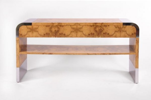 10: Milo Baughman Console table with drawer, USA 1950