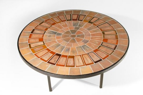 15: Roger Capron Coffee table, Vallauris, France, 1950