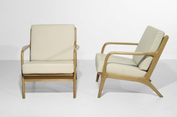 17: German Bauhaus armchairs, Germany circa 1940