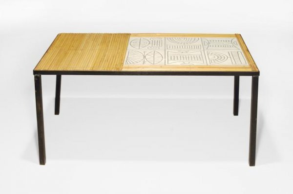 18: Roger Capron Coffee table, Vallauris, France, 1950