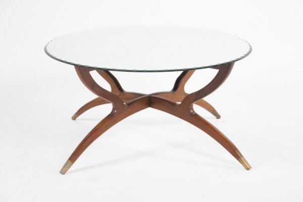 22: Italian Coffee table with mirror top, Italy 1950
