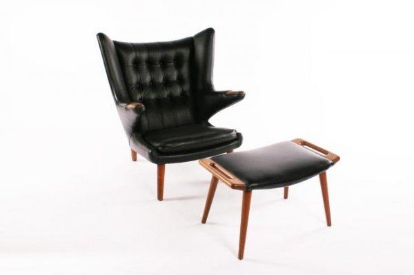 141: Hans J. Wegner Papa chair and ottoman, 1951