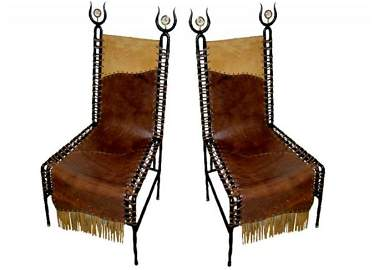 """4: French """"Barbarian chairs"""", France c. 1970-1980"""