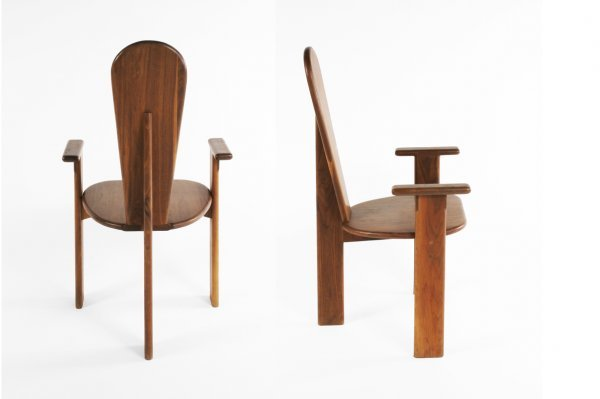 55: Gerald McCabe table and 8 chairs, USA c. 1960 - 4