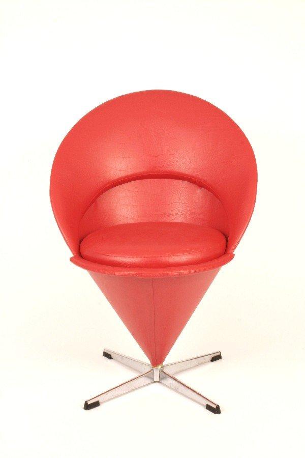 "1: Verner Panton ""Cone"" chair c. 1960"