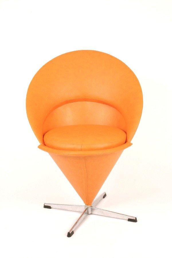 "3: Verner Panton ""Cone"" chair c. 1960"