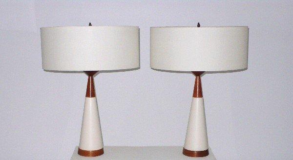 15: Danish Modern lamps, pair c. 1950