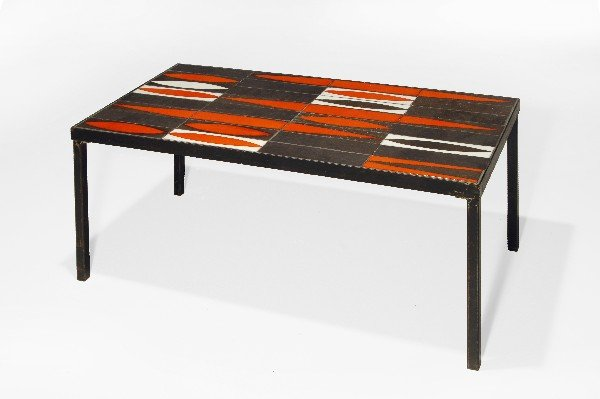 "22: Roger Capron ""Navette"" coffee table, Vallauris 1956"