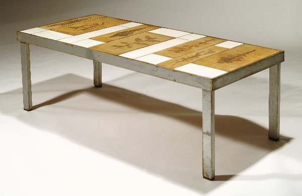 24: Roger Capron Coffee table, Vallauris, France 1950