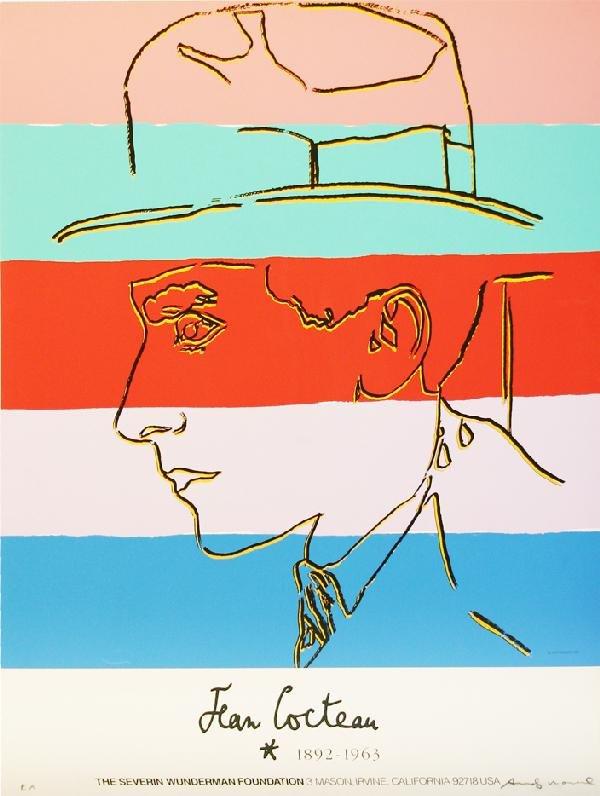 79: Andy Warhol: Jean Cocteau 1985 Serigraph